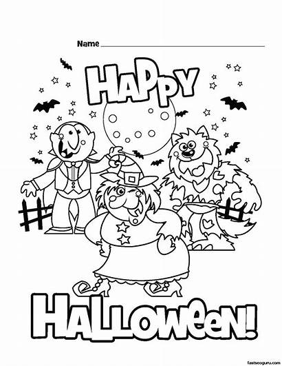 Halloween Coloring Pages Printable Happy Colouring Books