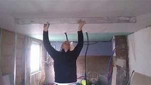 Comment Enduire Un Plafond : comment faire un plafond en plaque de pl tre de niveau ~ Mglfilm.com Idées de Décoration