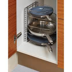 stores with gift registry chrome cookware organizer the container store