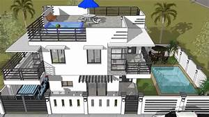 Modern 2 Storey House with Roofdeck & Swimming Pool - YouTube