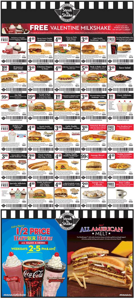 28570 Steak And Shake App Coupons by Steak N Shake Coupons Second Shake Free Free Coffee