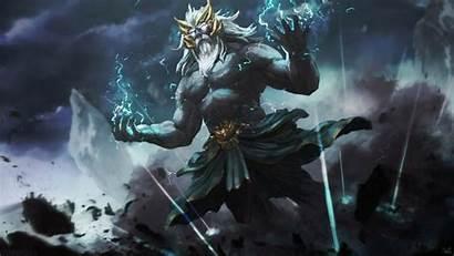Zeus God Dota Greek Wallpapers Arcana Mythology