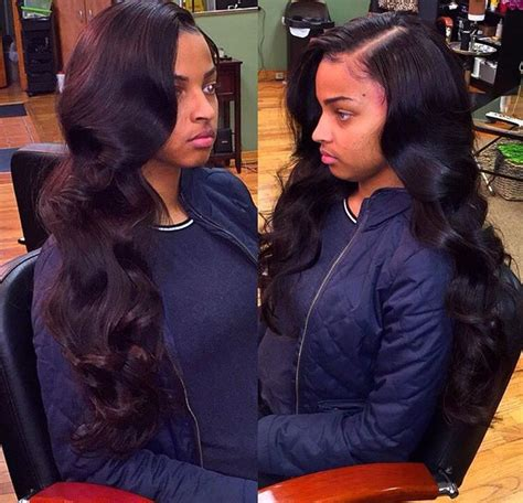 Sew In Weave Hairstyles Side Part by Retro Waves With A Side Part Hair Laid For The Gawwds