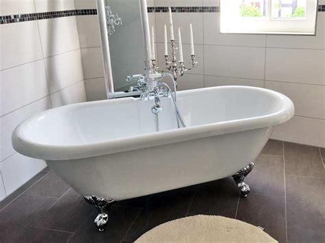 freistehende acryl badewanne freistehende badewanne carlton 175 acryl nostalgie duo 175 5 cm gl 228 nzend