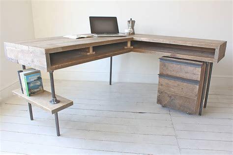 Stuart Industrial Reclaimed Board Corner Desk By Urban