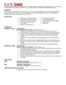 Hospital Social Work Resume Objective by Resume Sle Social Worker Resume Sle Social Services
