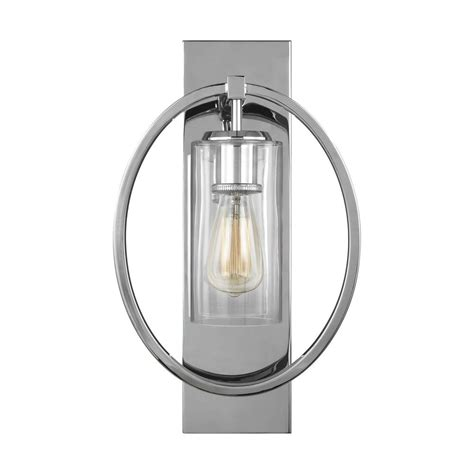 feiss marlena 1 light chrome wall sconce wb1846ch the