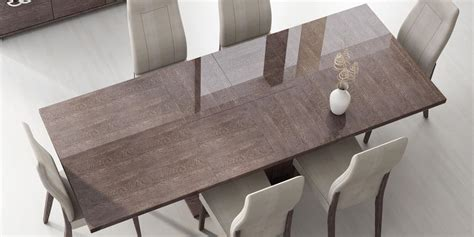 italy  prestige extendable walnut dining table boston