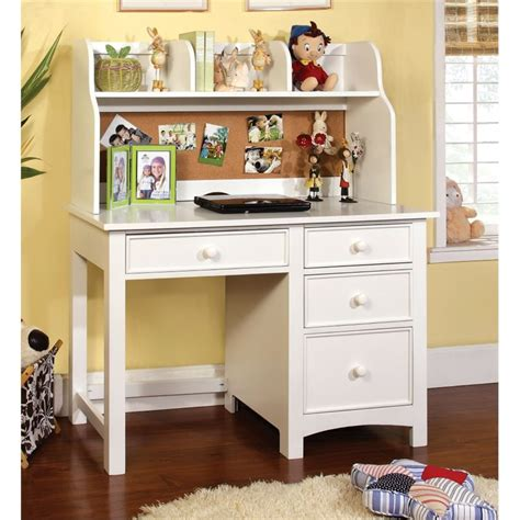 kids white desk with hutch furniture of america ruthie modern kids desk with hutch in