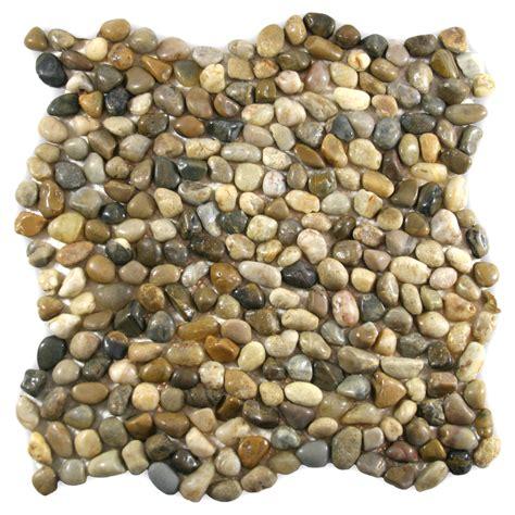 mini polished cobblestone pebble tile 12 quot x 12 quot river