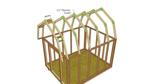 how to build a barn roof shed barn shed plans howtospecialist how to build step by
