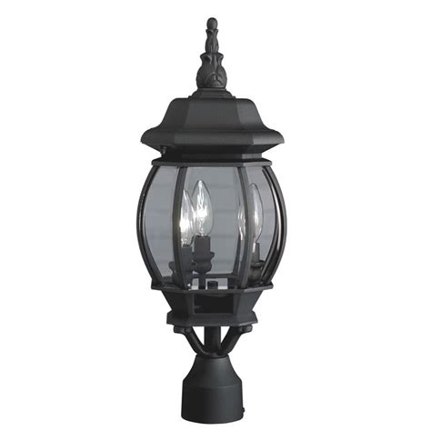 Light Post Lowes by Shop Portfolio 21 34 In H Black Post Light At Lowes