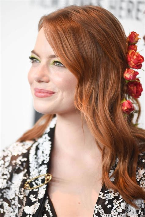 Emma Stone at The Favourite Premiere at New York Film
