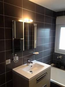 Salle De Bain Blanche Et Bois : salle de bain grise et blanche et bois ~ Preciouscoupons.com Idées de Décoration
