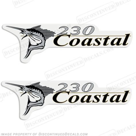 Wellcraft Boat Stickers by Wellcraft Coastal 230 Logo Boat Decals Set Of 2