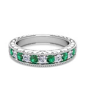 emerald wedding ring vintage and emerald wedding ring band in platinum