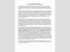 personal statement examples personal goal statement