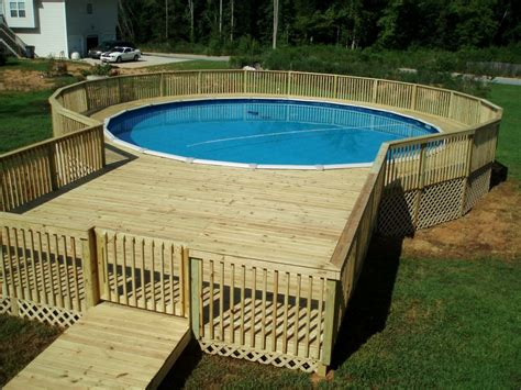 Above Ground Pool Deck Images Above Ground Pool Decks This Above Ground Pool Deck Has A W