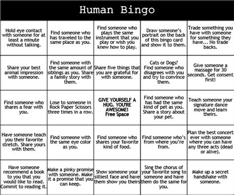 human bingo template print play human bingo c grounded
