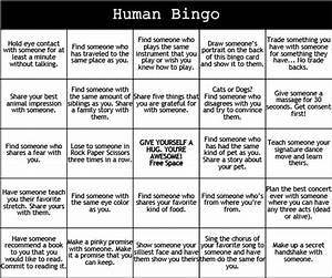 print play human bingo camp grounded With human bingo template