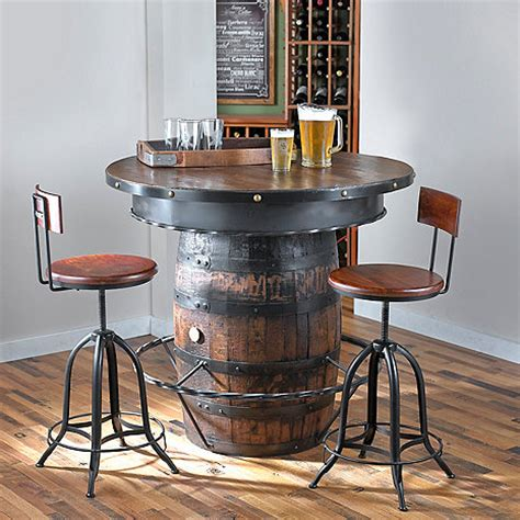 whiskey barrel pub table tennessee whiskey barrel pub table wine enthusiast