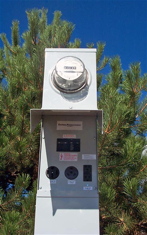 Amp Electrical Service Pedestal Metered