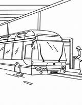 Bus Station Gas Coloring Pages Pump Sketch Netart Template sketch template