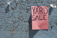 Yard sale sign stock image. Image of white, sign, yard ...