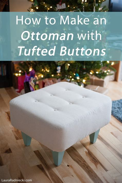 How To Build A Ottoman by Diy Ottoman With Tufted Buttons Tutorial How To Make An