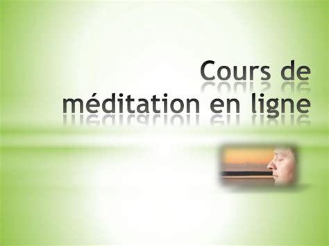 cours de cuisine gratuit en ligne cours de méditation en ligne