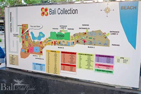 bali collection map httpwwwbalihotelguidecom