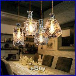 Screw In A Light Bulb Decanter Glass Bottle Pendant Light Ceiling Lights Lamp