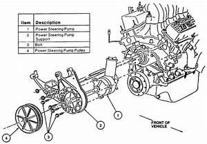 98 Ford Windstar  Power Steering Pump  Hoses  Alternator Pulley  Bolts