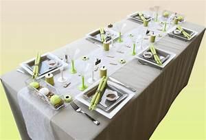 Set De Table En Bambou : une d coration de table bambou en vert et taupe ~ Premium-room.com Idées de Décoration
