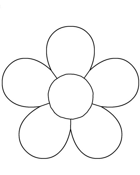 Flower Template Flower Template For Children S Activities Coloring Pages
