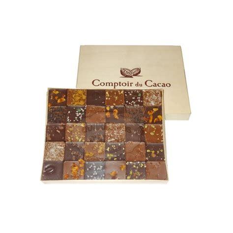 le comptoir du cacao coffret 30 pralin 233 s feuillet 233 s comptoir du cacao 300g