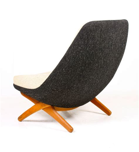 easy chairs with ottomans easy chair and ottoman by wikkelsoe for sale at 1stdibs