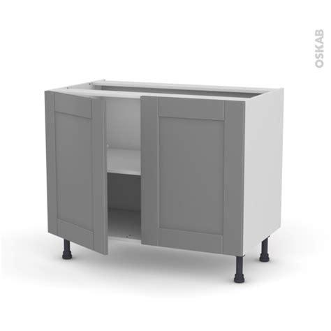 meuble de cuisine sous 233 vier filipen gris 2 portes l100 x