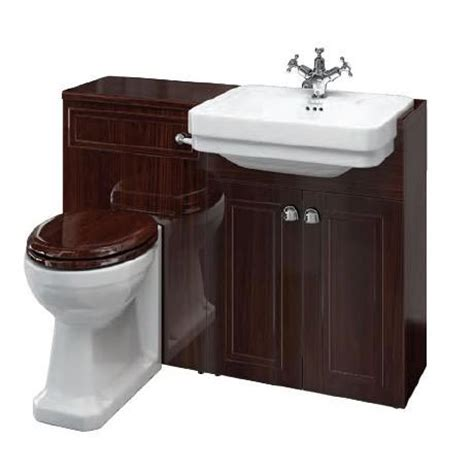 burlington traditional back to wall vanity unit suite
