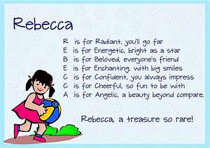 Acrostic Name Poems For Girls | Literature, Girls and Poem