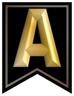 swallowtail printable alphabet banner letters black