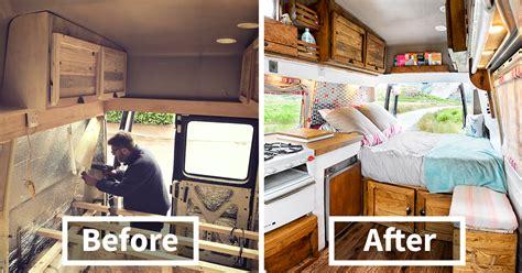 transformed  camper van   weeks
