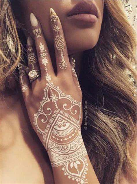 latest christmas white henna designs   tattoos fashioneven