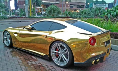 gold ferrari gold wrapped ferrari f12 in indonesia gtspirit