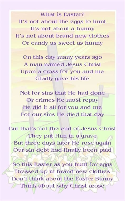 Easter Poem  Easter  Pinterest  Easter Poems, Easter. Small Deck Ideas. Bedroom Ideas Simple. Bathroom Design Pictures Small. Outfit Ideas Rocker. Table Saw Ideas. Bathroom Ideas With Towels. Valentines Ideas Orlando Fl. Decorating Ideas Quiz
