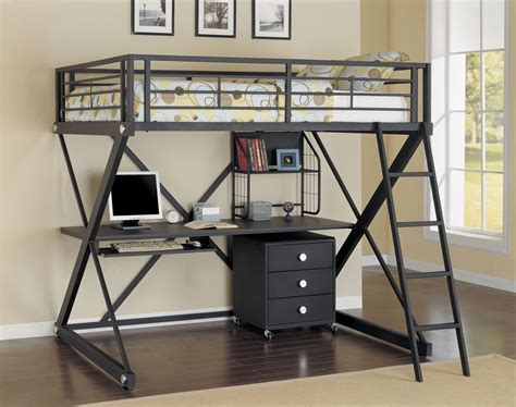 size loft beds with desk ideas cool size loft bed with desk designs ideas decofurnish