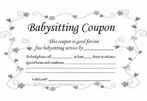 Babysitting coupon templates printable josemulinohouseco for Coupon template google docs