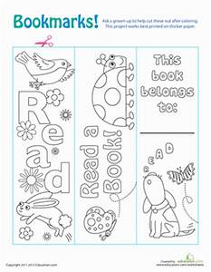 create your own bookmark template - color your own bookmarks worksheet