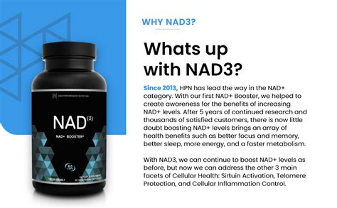 Amazon.com: HPN NAD+ Booster – Nicotinamide Riboside