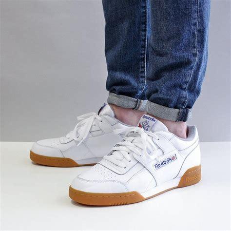 mens reebok workout reebok workout plus r12 shoes white raff clothing